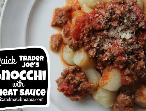 Quick Trader Joe's Gnocchi with Meat Sauce