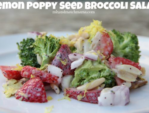 Lemon Poppy Seed Broccoli Salad