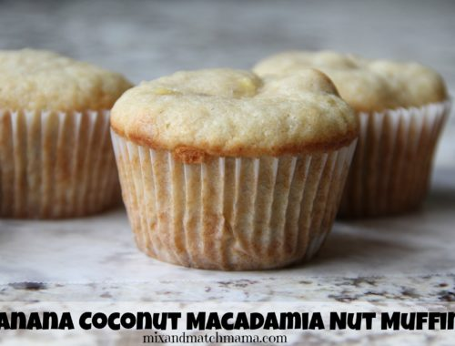 Banana Coconut Macadamia Nut Muffins