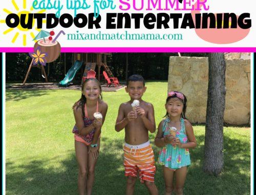 Easy Tips for Summer Outdoor Entertaining