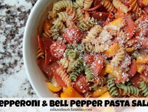Pepperoni & Bell Pepper Pasta Salad