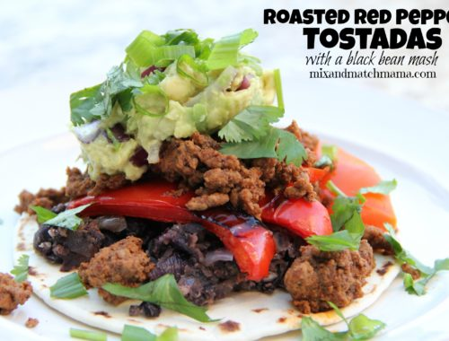 Roasted Red Pepper Tostadas