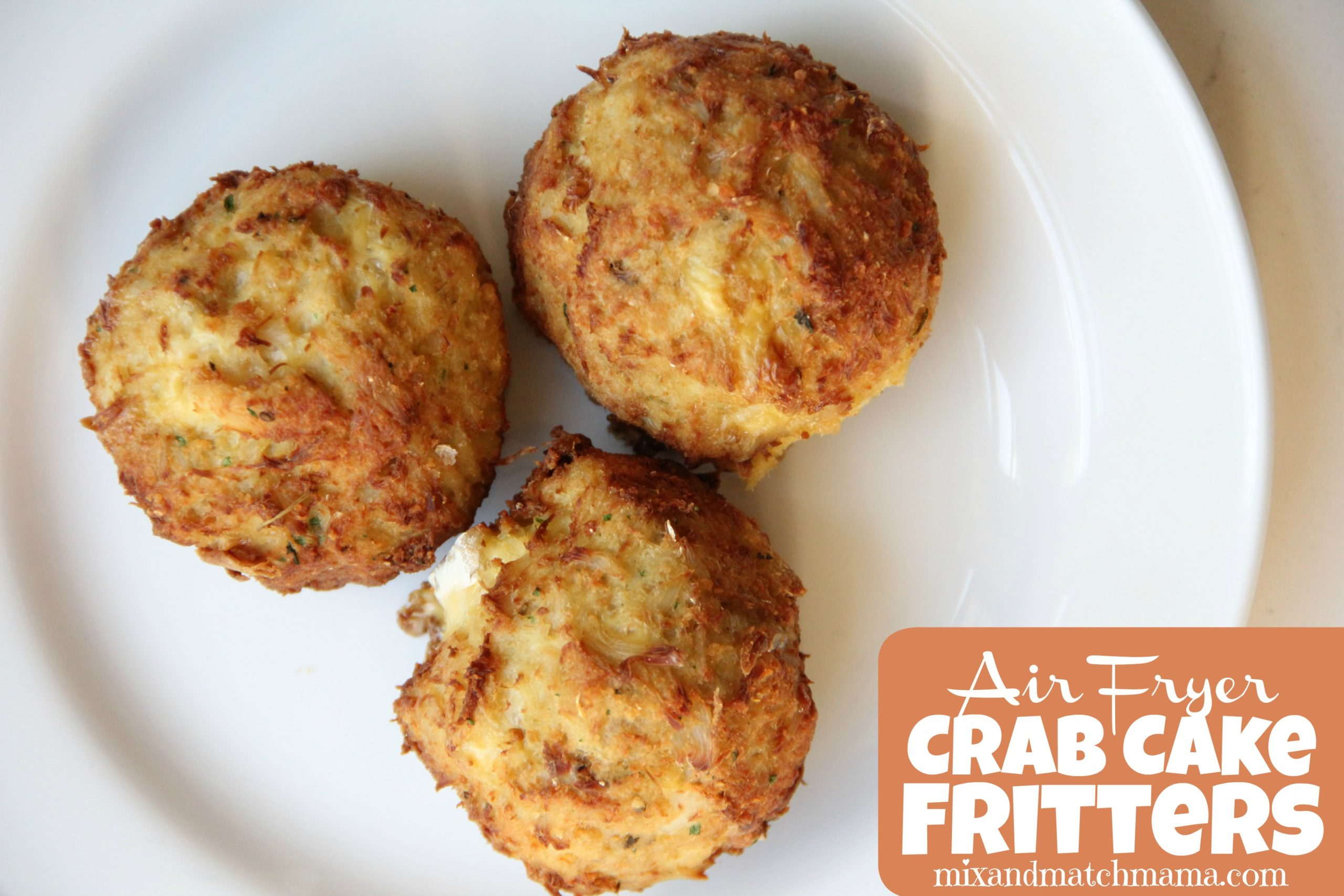 Air Fryer Crab Cake Fritters Mix Match Mama